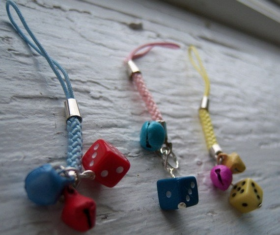 Little Dice Phone Charm or Zipper Pull