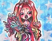 Print 8x10 11x14 - They're All Gonna Laugh At You - Prom Queen Carrie White in Blood