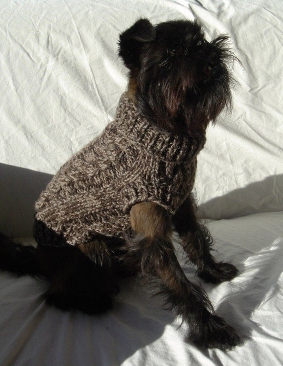 Winters Luxury in Natural Tweed Pure Wool Dog Sweater