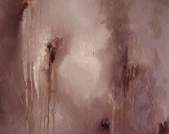 "Painting, original abstract oil, brown, 22 x 18, ""Minotaur Dreams (I)"""