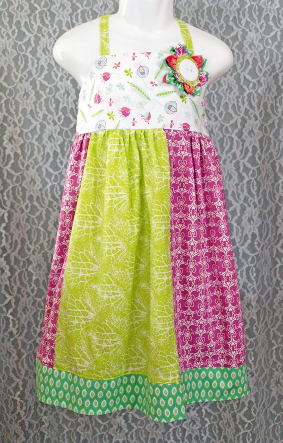 Boutique Girls Dress - SPRING MORNING-  size 3T
