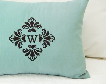 Damask Monogram - Machine Embroidery Design and Alphabet
