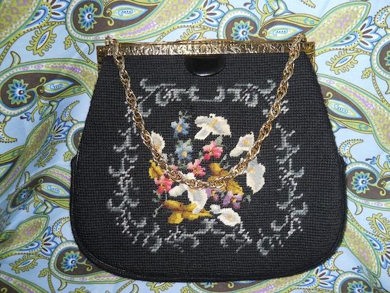 Vintage Needle Point & Petit Point handbag