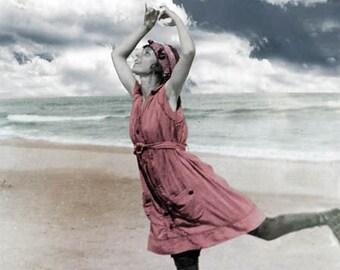 Photograph Fine Art Print Grace Gemberling Keast Dances at Beach Joy of Life