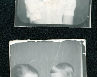 2 photo booth mom baby and little girl vintage photo