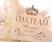 Made to Order White Linen Blend Chateau Marmont Ruffle SLIP COVER