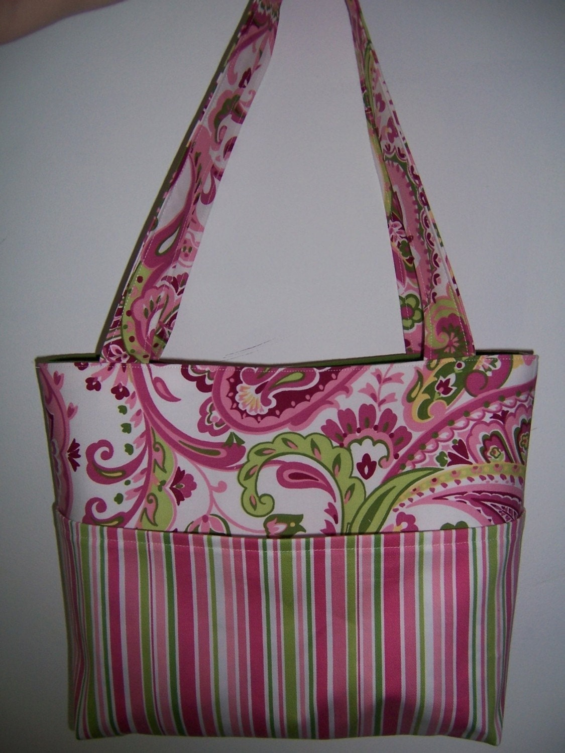 Pocket Tote Bag PDF Sewing Pattern 4 Sizes to Make
