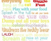 Printable Poster for Toddler Decor - Toddler Rules