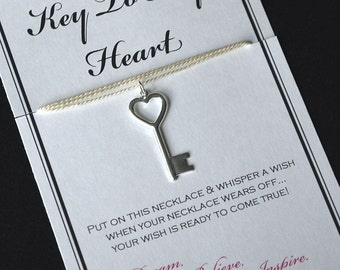 Key To My Heart Wish Necklace