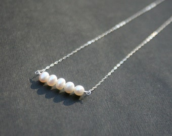 Sterling silver necklace wtih freshwater pearls