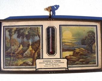 Mohawk TN - Vintage Advertising Thermometer w/ 1947 Calendar,