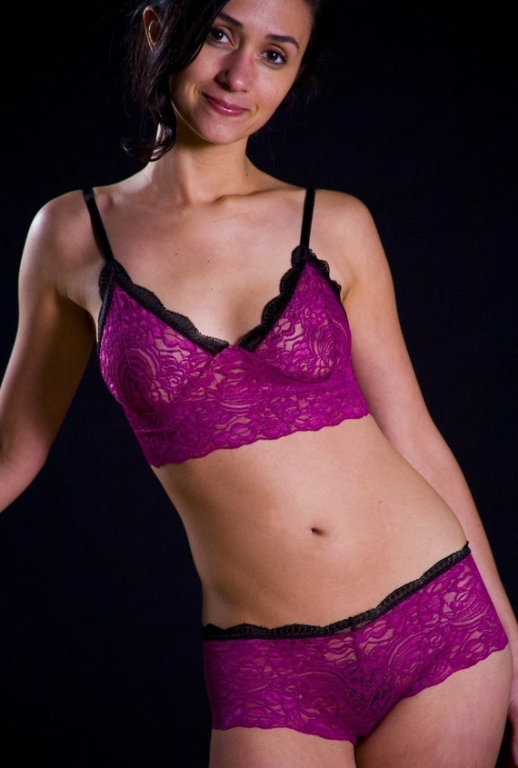 SALE Last One Up To Size Medium - Pink Lace Bra - Womens Lingerie Made to Order 'Sassafras' Bra