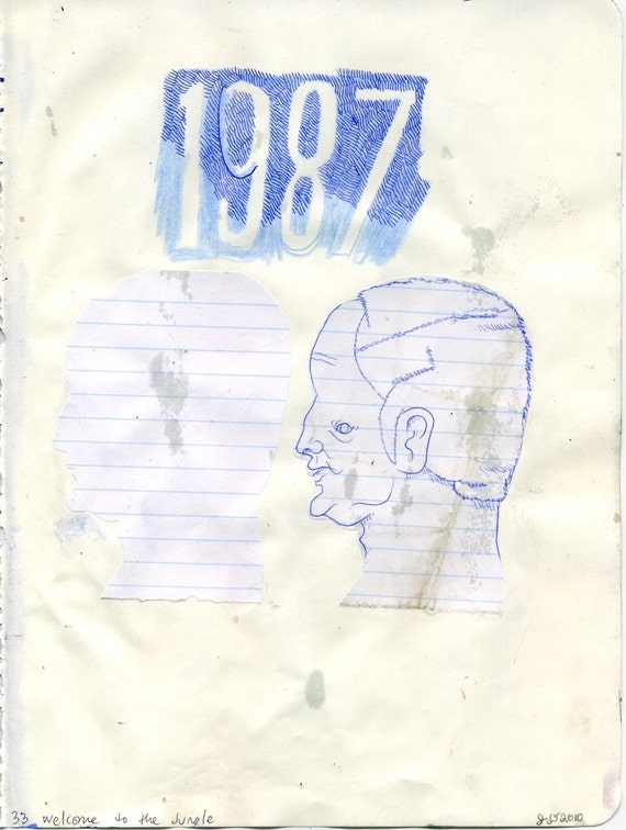 OCTOBER SALE - 1987 (original drawing, 2010)