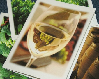 Winery Photography Note Cards - Set of 4 Different Photos - North Carolina Wine, Vineyards, Art Stationery