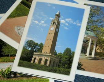 UNC-Chapel Hill Photography Note Cards - Set of 4 Different Photos - University of North Carolina Fine Art Stationery
