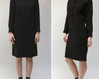 1950s Wool Plaid Ferrante Dress
