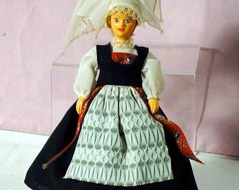 Vintage miniature dollhouse Doll from Belgium