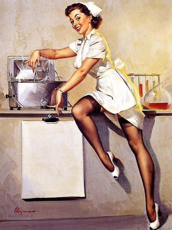 Image result for pin up nurse art