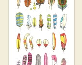 Five Feather Postcards //
