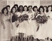 Vintage 8x10 Photo of High School Prom Girls