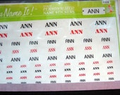 Vintage Name Stickers - Ann - Brand New in Package 1980s. Fun Stocking Stuffer or Office Gift