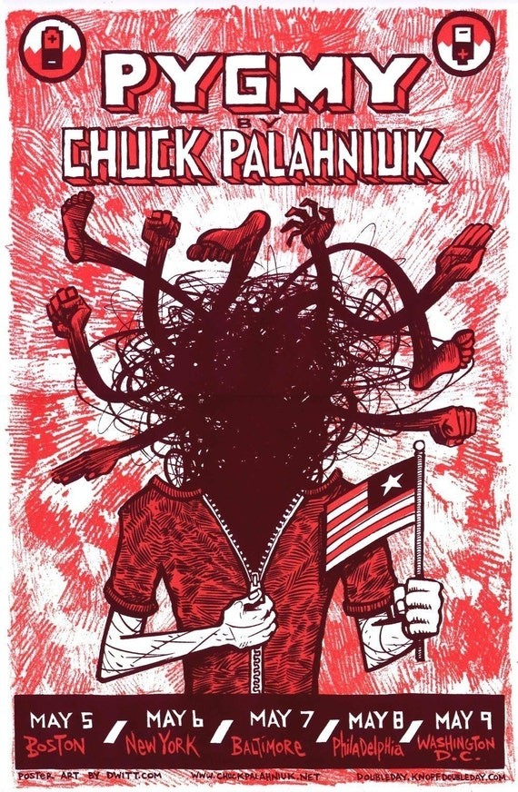 Chuck Palahniuk PYGMY limited edition tour poster