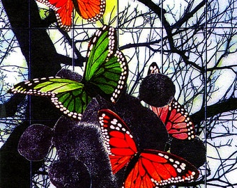 Butterfly Thoughts Collage Art Note Card - Blank - 3 1/2 x 5 inches