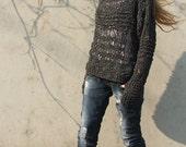 Charcoal grey oversized grunge sweater LTd Edition
