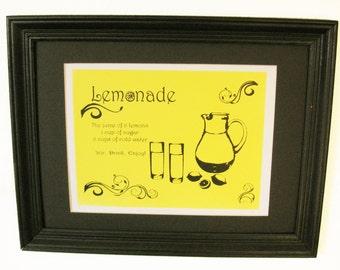 Making Lemonade Screenprint - Lemon Yellow and Black