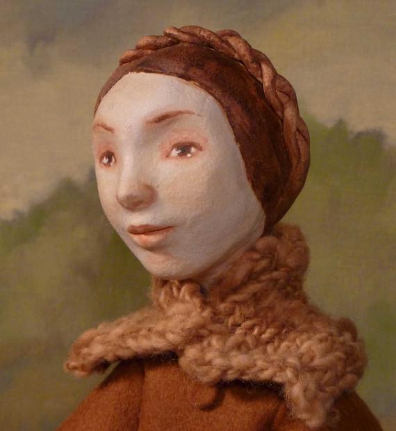 Reserved - Ursula art doll, ooak, mixed media sculpture