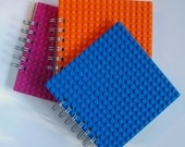 Reserved for Shannon Spiral bound notebook made with LEGO (r) plate Set of Three