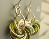 Eternity Silver Earrings - The Stylish Side of Chainmaille - Your Pick of Accent Color