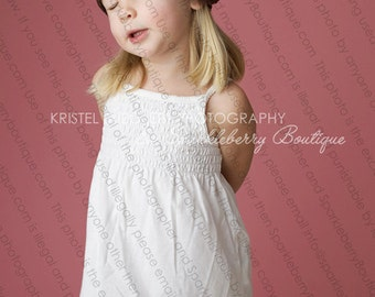 Crocheted Beanie The Meghan RTS Ready to ship 0-3 M, 3-6 M, 6-12 M Grape/Chocolate/Pink/White Classy Photo Prop Muted Tones Elegant