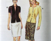 Misses Fitted Tops and Skirts // Kwik Sew Pattern 3084 // Size XS S M L XL