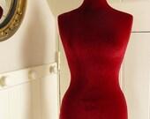 Display Mannequin Velvet COVER ONLY Slip On Luxury Velvet - RED