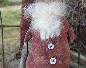 152e  CHRISTMAS Primitive SLEEPY Santa  ornament epattern SALE immediate download