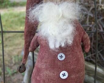 Santa Claus Christmas  Sleepy Santa doll ornament 152 Crows Roost Prims epattern ImmediateDownload SALE