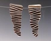 crinkle earrings      in sterling silver hand made