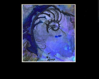 NAUTILUS SHELL 54 Original Contemporary Modern sea art painting  by Kathy Morton Stanion EBSQ
