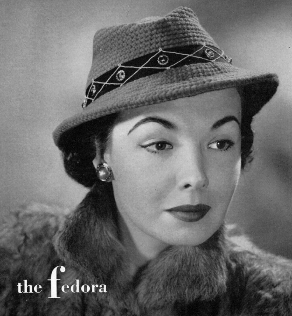 The fedora vintage crochet hat pattern circa 1940 pdf zoom bankloansurffo Choice Image