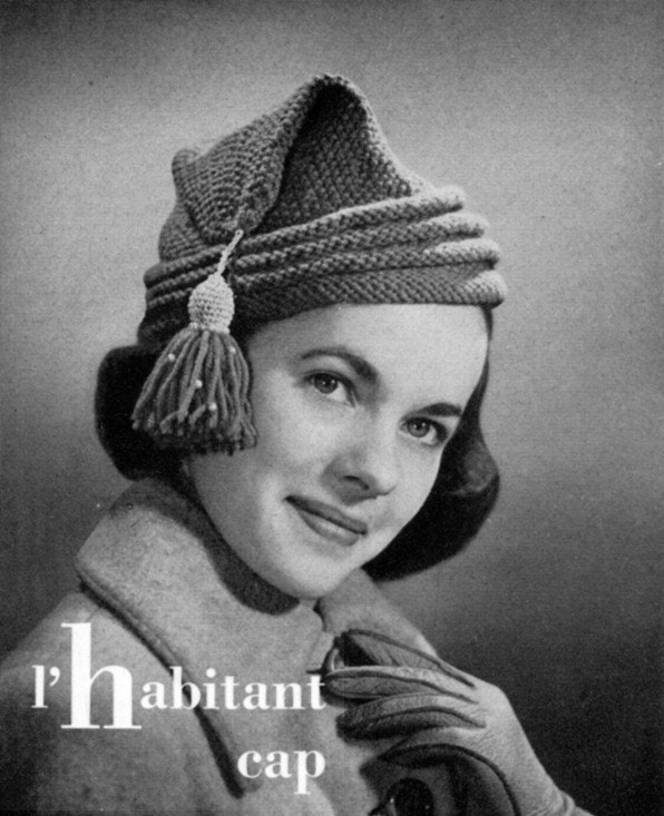 Knitting Pattern Vintage Hat : 1940s Vintage Hat Pattern Knitting LHabitant by ...
