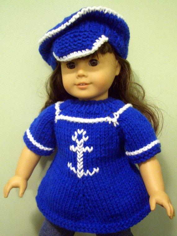 Knitting PATTERN Beginner level for AMERICAN GIRL 18 inch doll