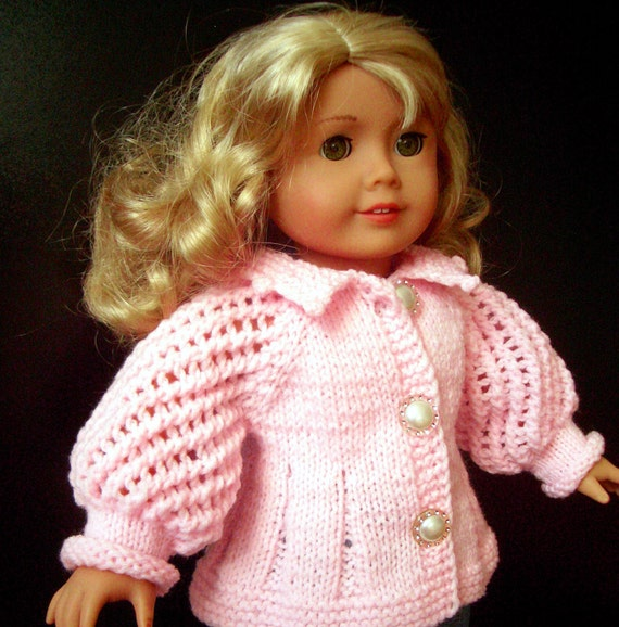 American Girl 18 inch doll BEGINNER level Knitting pattern with VIDEO clips (34)