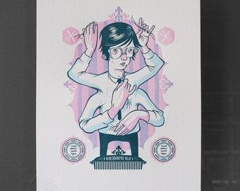 Trichophagia - Letterpress Print