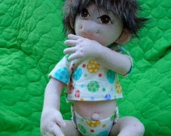 New sewing pattern, Lil Bedheads, child safe, fully jointed soft doll