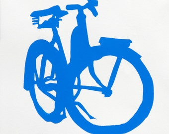 Bike Art - Blue Cruiser Bicycle Print