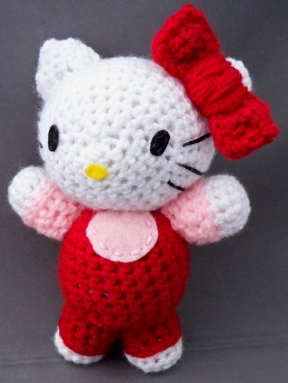 Hello Kitty amigurumi RED Cute Adorable plush by ...
