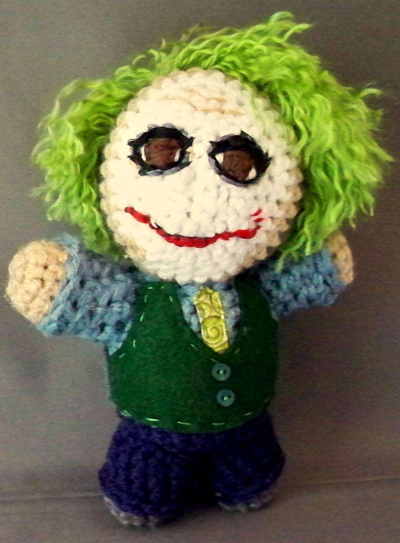 The Joker Heath Ledger Amigurumi Plush Doll by LLsCreations83