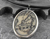 Borneo Map Necklace - Finding Yourself In Adventure by COGnitive Creations