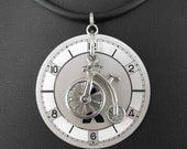 Steampunk Penny Farthing Necklace - Riding the Penny Farthing of Time by COGnitive Creations